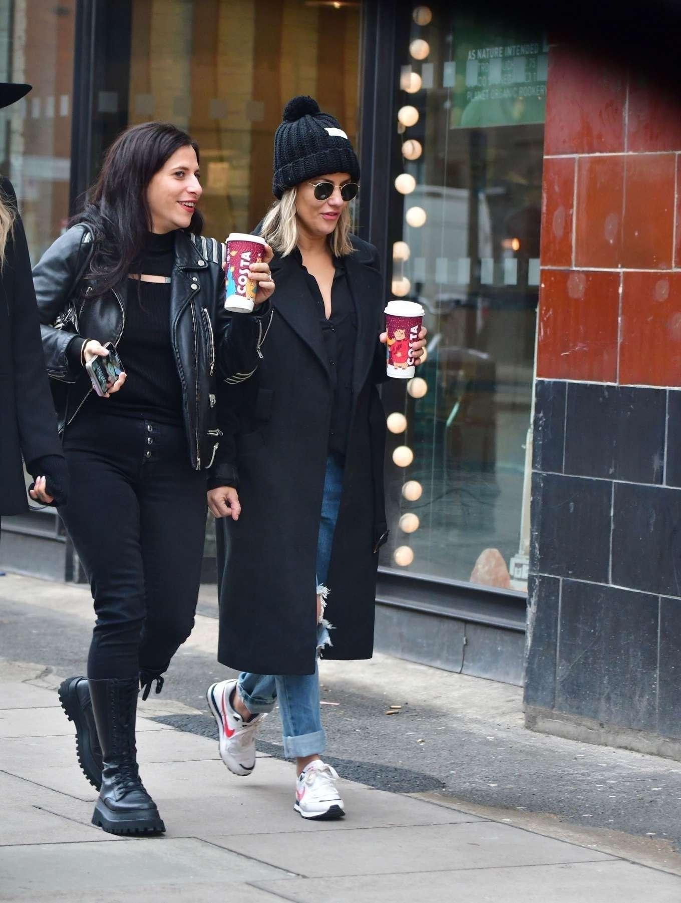 Caroline Flack 2019 : Caroline Flack with friends shopping in East London-14