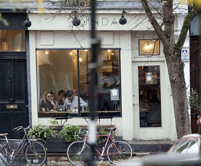Caroline Flack 2019 : Caroline Flack with her boyfriend Lewis Burton at local cafe in North London-03