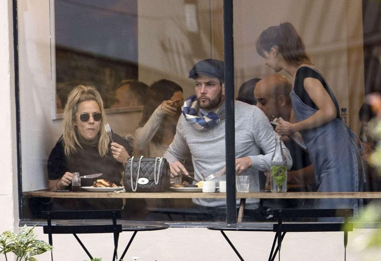 Caroline Flack 2019 : Caroline Flack with her boyfriend Lewis Burton at local cafe in North London-05