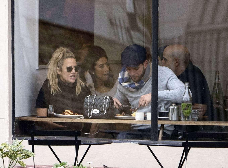 Caroline Flack 2019 : Caroline Flack with her boyfriend Lewis Burton at local cafe in North London-07