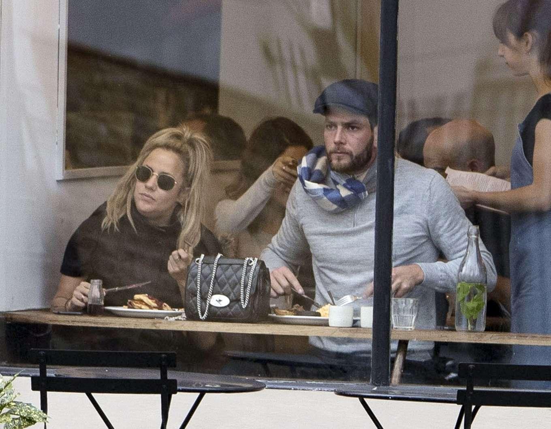 Caroline Flack 2019 : Caroline Flack with her boyfriend Lewis Burton at local cafe in North London-11