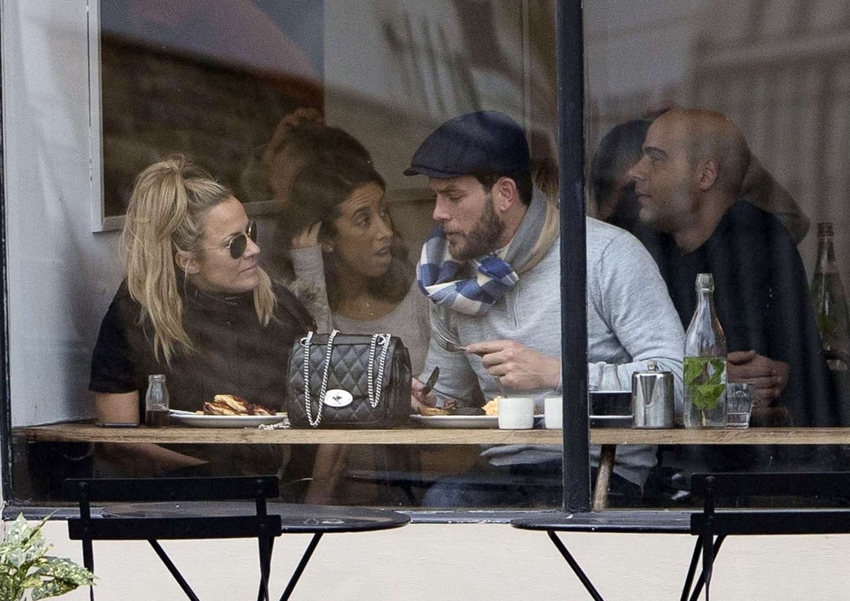 Caroline Flack 2019 : Caroline Flack with her boyfriend Lewis Burton at local cafe in North London-15