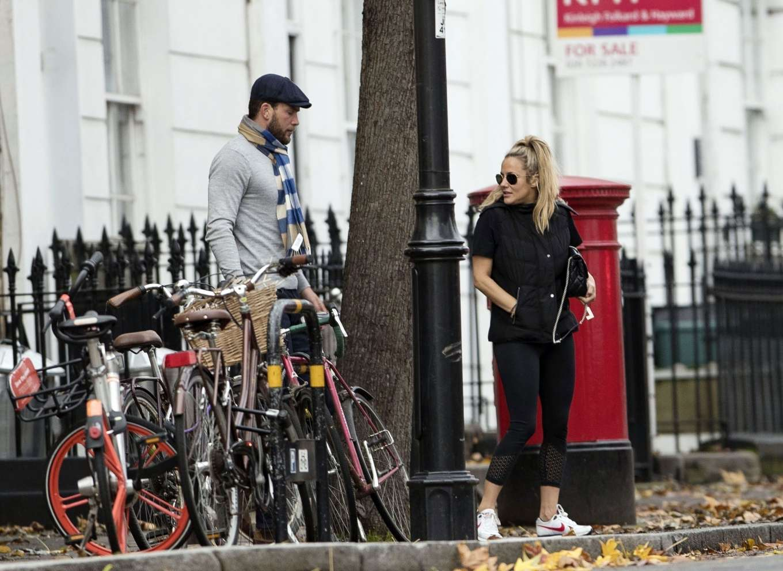 Caroline Flack 2019 : Caroline Flack with her boyfriend Lewis Burton at local cafe in North London-17
