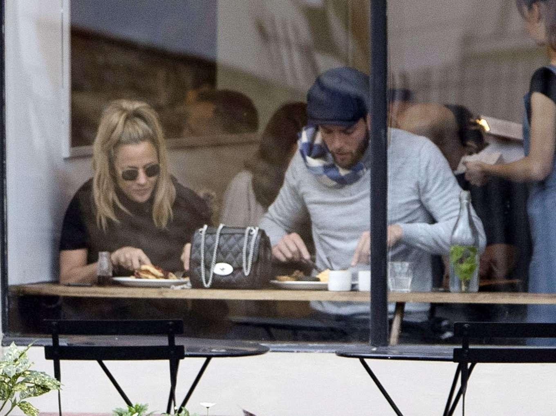 Caroline Flack 2019 : Caroline Flack with her boyfriend Lewis Burton at local cafe in North London-20