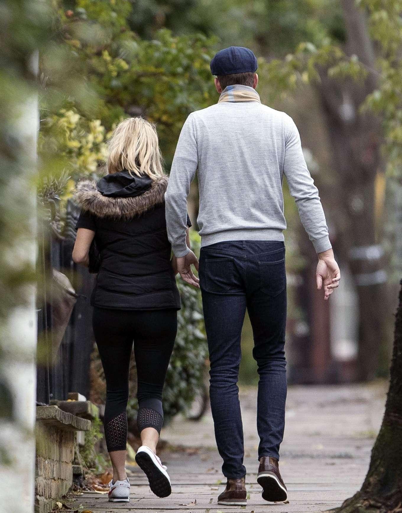 Caroline Flack 2019 : Caroline Flack with her boyfriend Lewis Burton at local cafe in North London-23