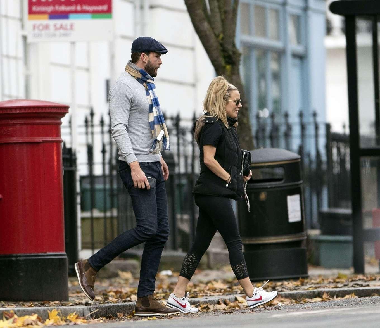 Caroline Flack 2019 : Caroline Flack with her boyfriend Lewis Burton at local cafe in North London-25