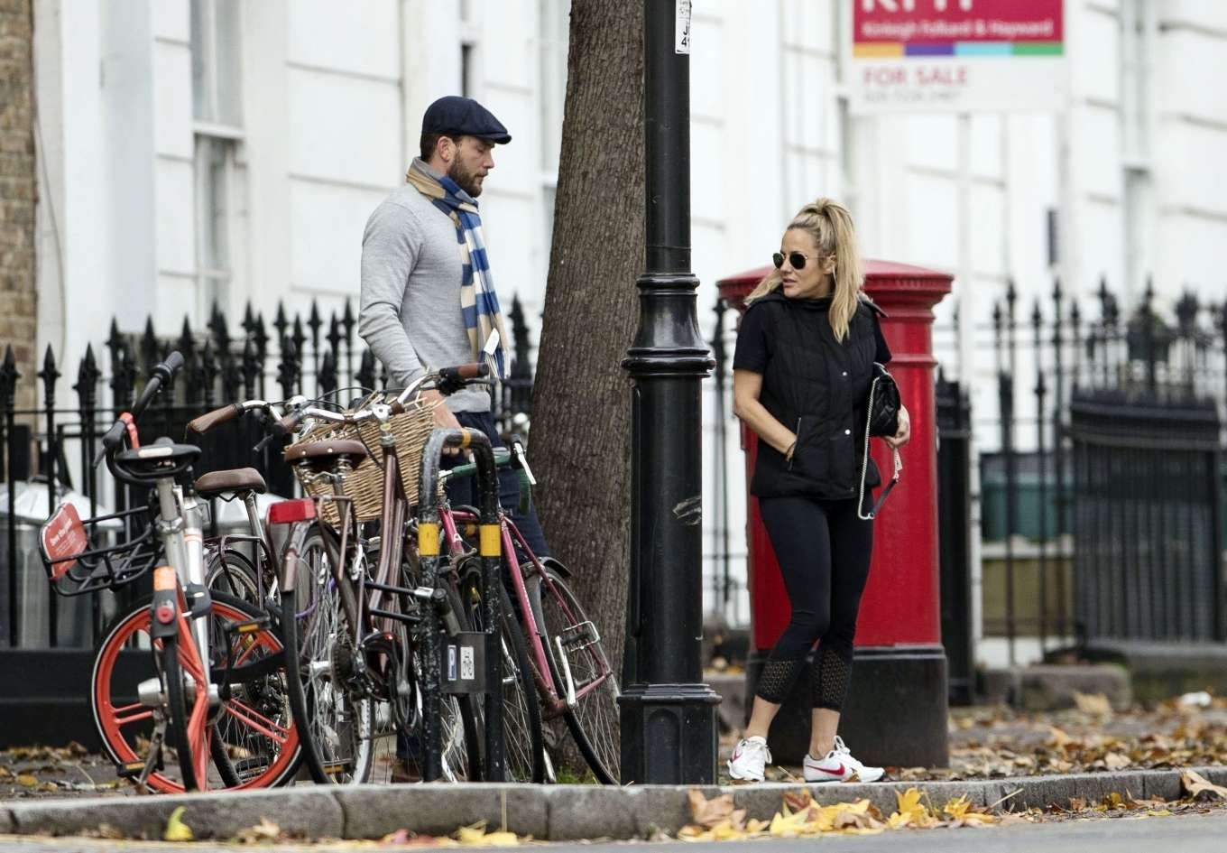 Caroline Flack 2019 : Caroline Flack with her boyfriend Lewis Burton at local cafe in North London-28