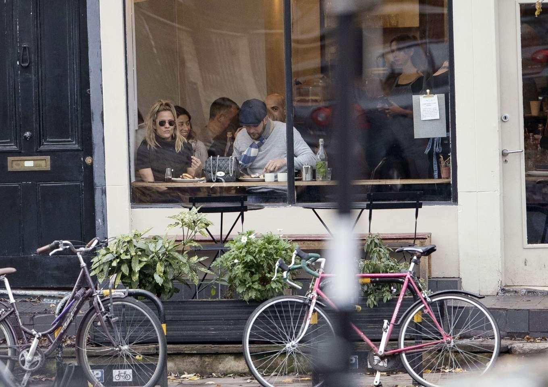 Caroline Flack 2019 : Caroline Flack with her boyfriend Lewis Burton at local cafe in North London-29