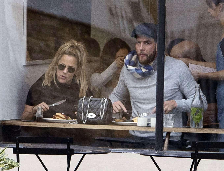 Caroline Flack 2019 : Caroline Flack with her boyfriend Lewis Burton at local cafe in North London-33