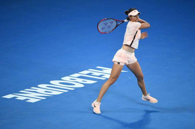 Caroline Garcia - Practice Session at the Australian Open 2018 in Melbourne