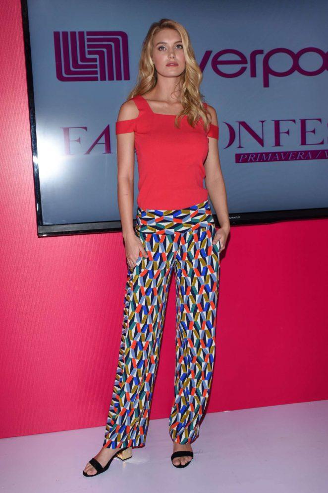 Caroline Lowe - Liverpool Fashion Fest Press Conference in Mexico