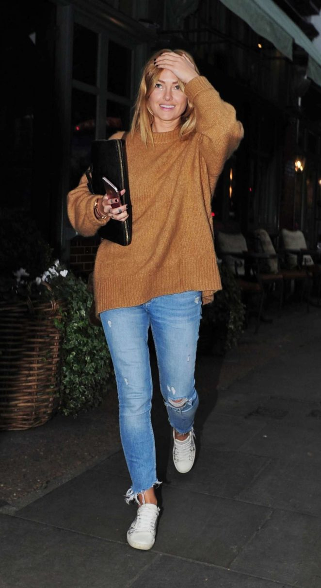 Caroline Receveur at Ivy Chelsea Garden Restaurant in London