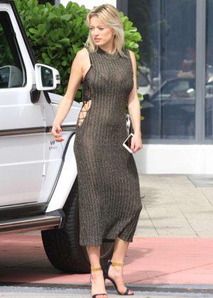 Caroline Vreeland in Tight Dress in Miami