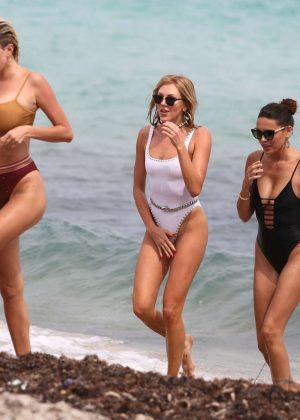 Caroline Vreeland, Shea Marie and Melody Le in Bikini on the beach in Miami