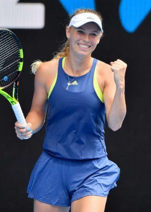 Caroline Wozniacki - 2018 Australian Open in Melbourne - Day 7