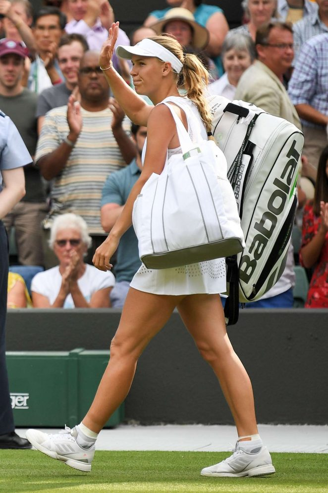 Caroline Wozniacki - 2018 Wimbledon Tennis Championships in London Day 3