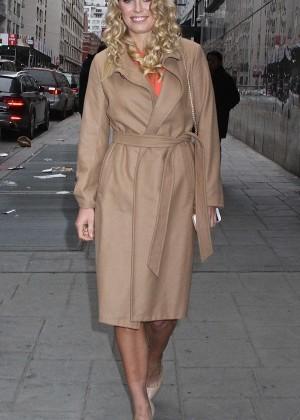 Caroline Wozniacki - Leaving Good Day New York in NYC