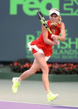 Caroline Wozniacki - Miami Open 2017 in Key Biscayne