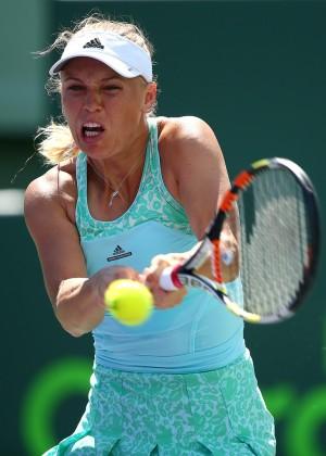 Caroline Wozniacki - Miami Open 2015 in Key Biscayne