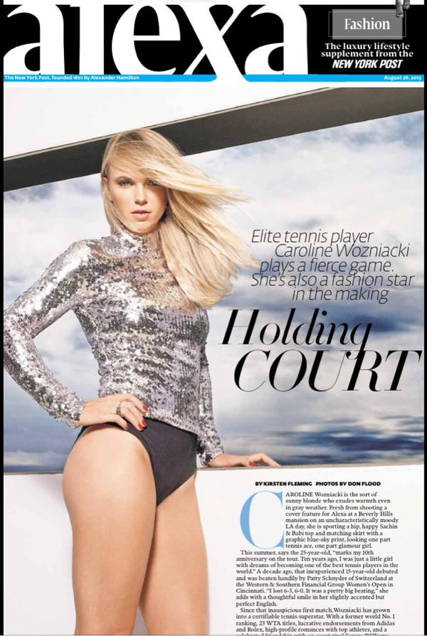 Caroline Wozniacki – New York Post's Alexa Magazine 2015