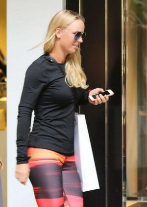 Caroline Wozniacki - Out for Christmas Shopping in Miami