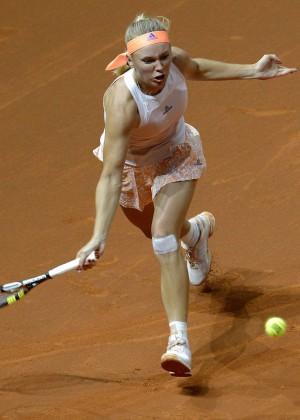 Caroline Wozniacki - Porsche Tennis Grand Prix in Stuttgart Day 4