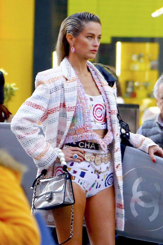 Carolyn Murphy - Photoshoot for Harper's Bazaar Fashion Story in NY
