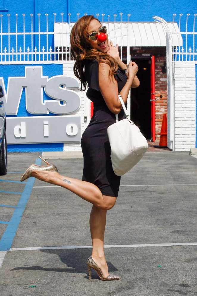 Carrie Ann Inaba in Tights Dress at DWTS in Hollywood
