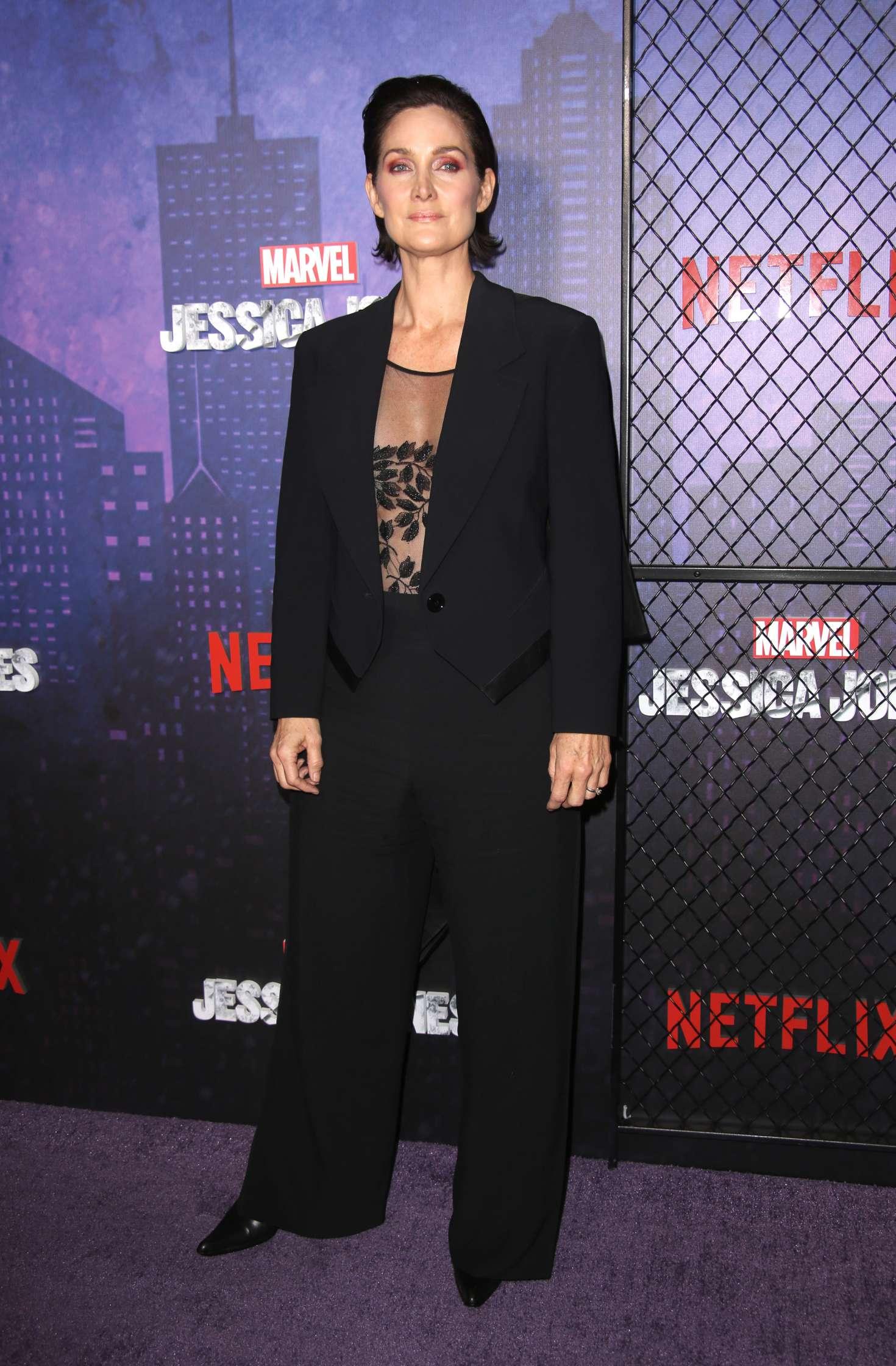 Carrie-Anne Moss - 'Jessica Jones' Season 2 Premiere in New York