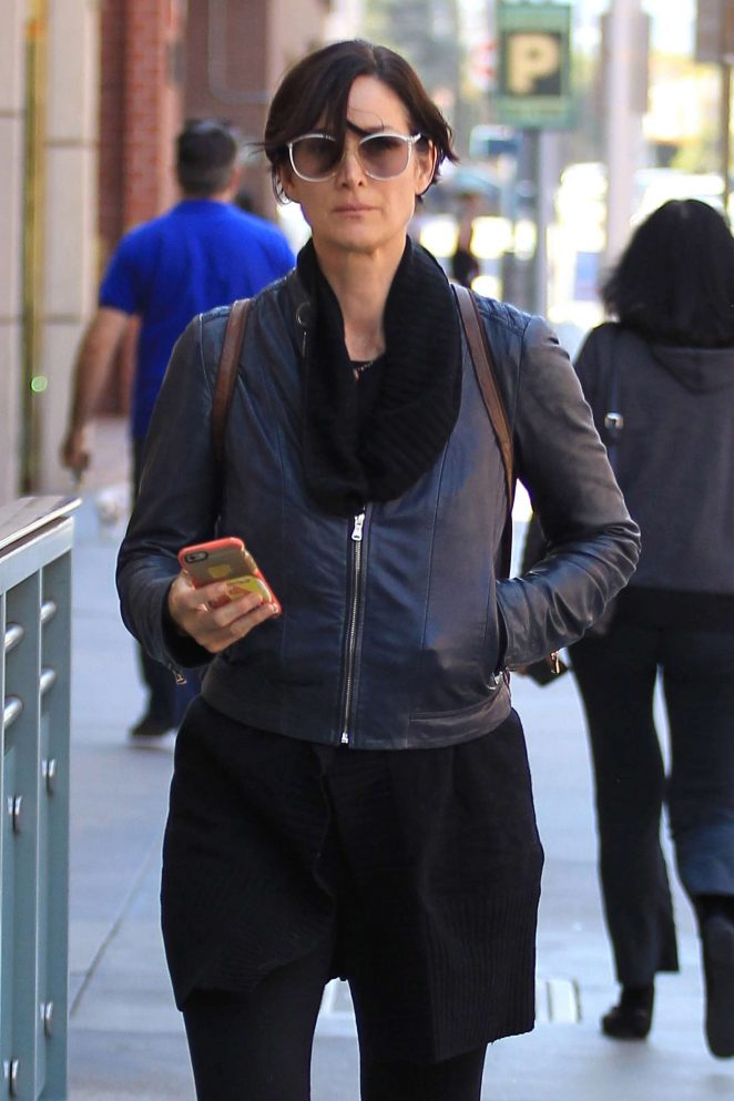 Carrie-Anne Moss Shopping in Beverly Hills