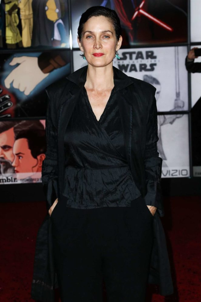 Carrie-Anne Moss - 'Star Wars: The Last Jedi' Premiere in Los Angeles