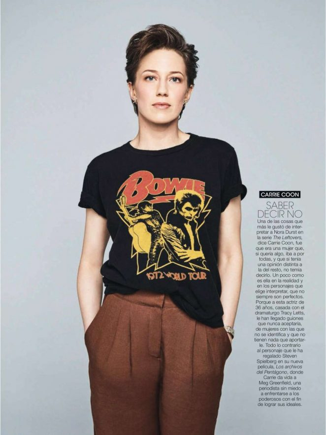 Carrie Coon - Glamour Spain Magazine (February 2018)