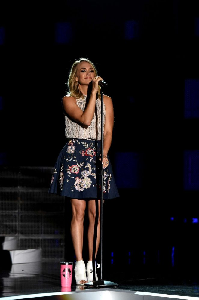 Carrie Underwood -2017 CMT Music Awards rehearsals in Nashville