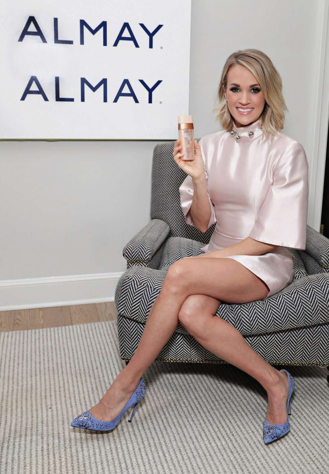 Carrie Underwood - Almay Healthy Glow Beauty Day in NYC