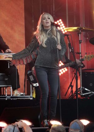 Carrie Underwood at Jimmy Kimmel Live! in Los Angeles