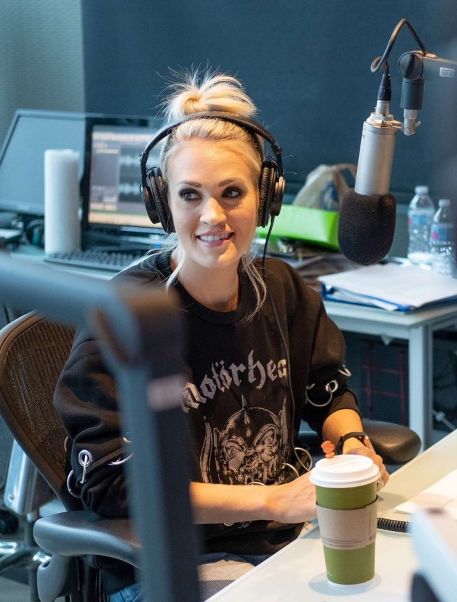 Carrie Underwood - Visits SiriusXM The Highway in Nashville