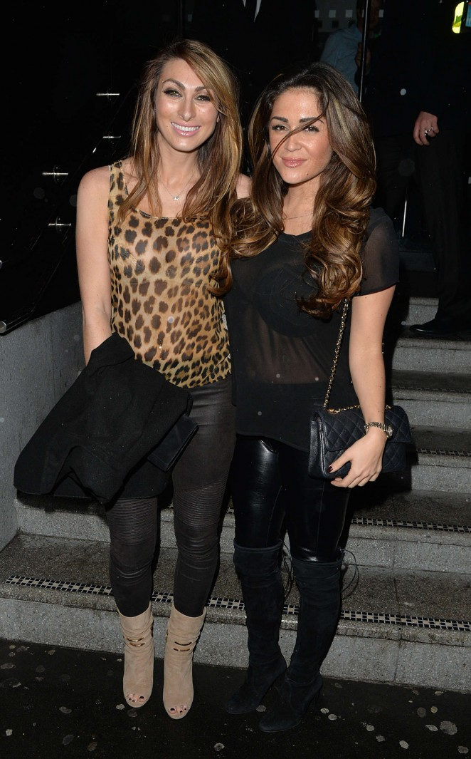Casey Batchelor and Luisa Zissman at the 100 Restaurant in Soho