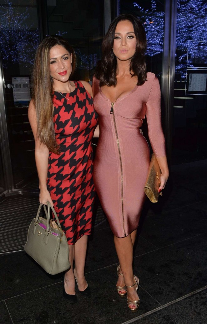 Casey Batchelor and Vicky Pattison - Night Out in Mayfair