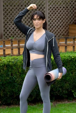 Casey Batchelor - Doing yoga workout in North London