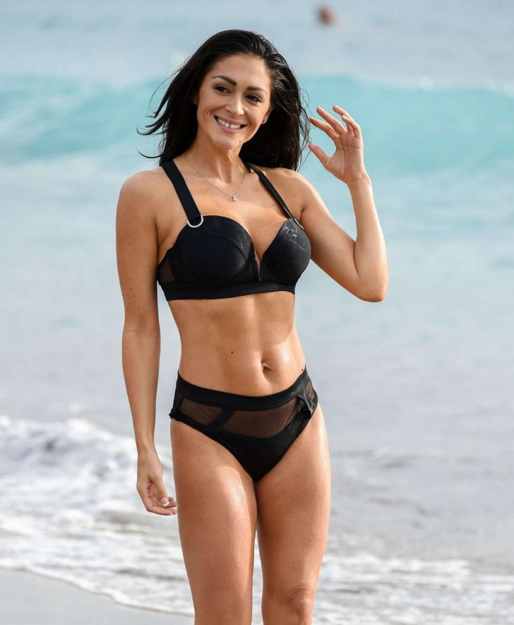 Casey Batchelor in Bikini - Filming for her yoga app 'Yoga Blitz' in Tenerife