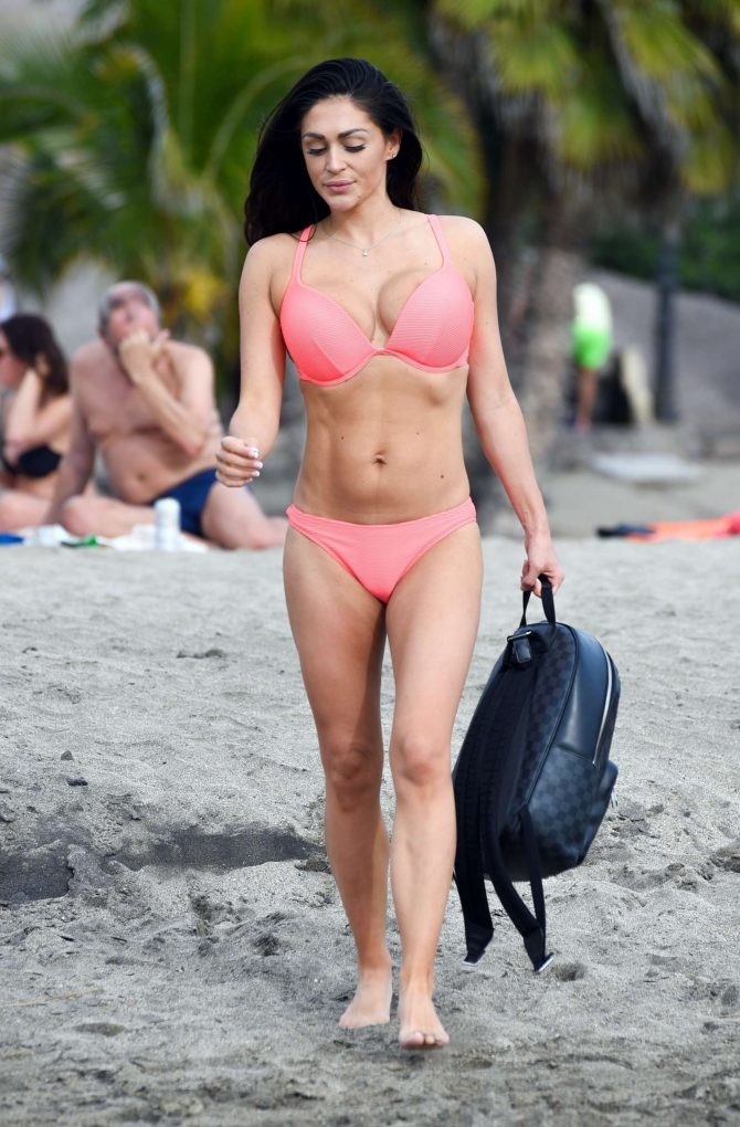 Casey Batchelor in Bikini – Filming her app Yoga Blitz in Tenerife