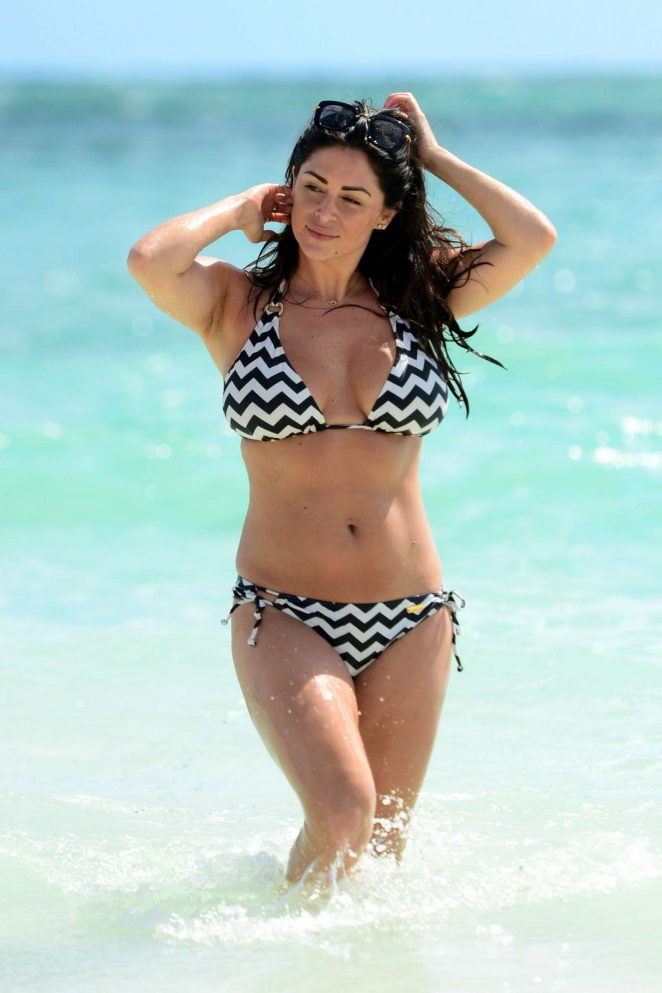 Casey Batchelor in Bikini on the beach in the Dominican Republic