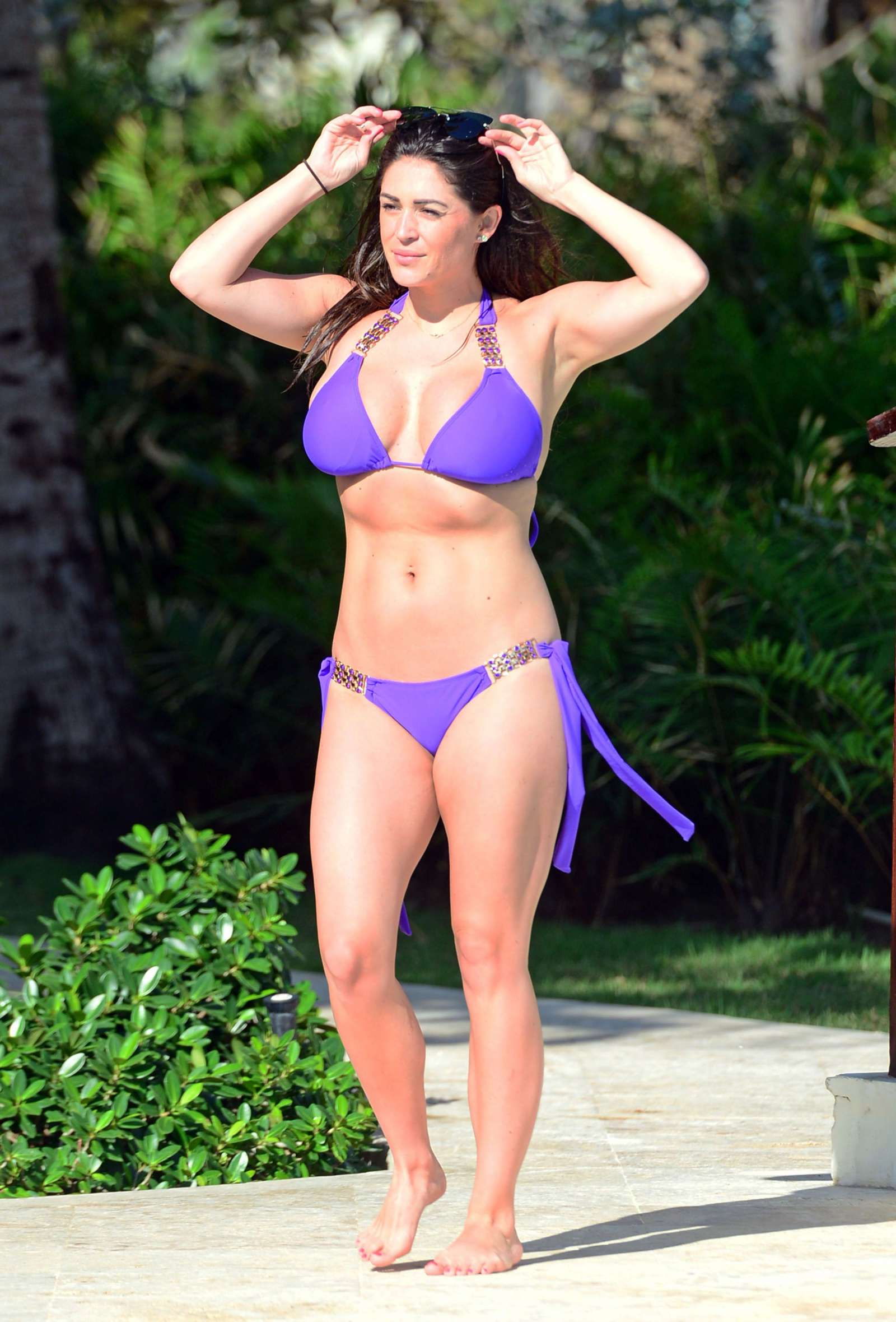 Casey Batchelor in Blue Bikini in Cyprus Pic 5 of 35