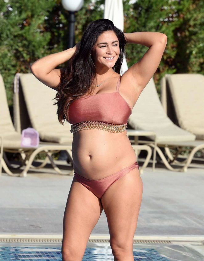 Casey Batchelor in Bronze Bikini in Cyprus