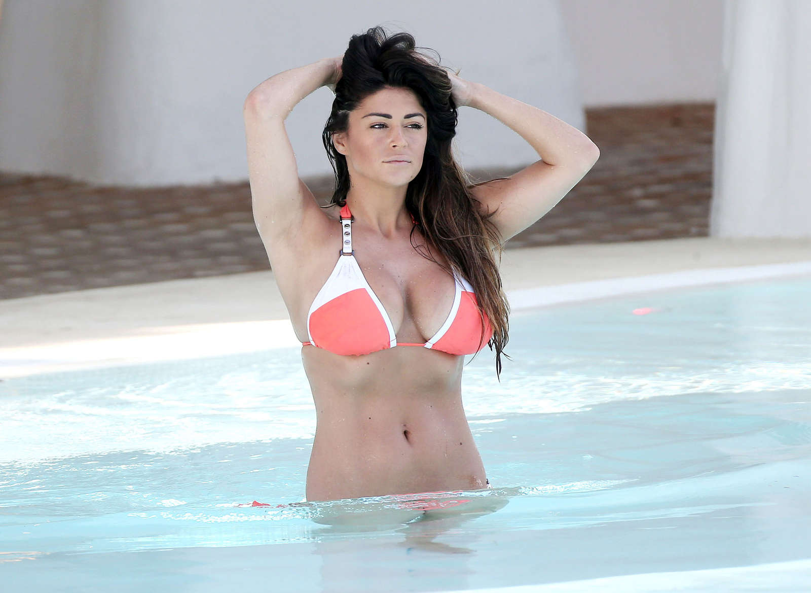 casey batchelor in orange bikini 2016  30   gotceleb
