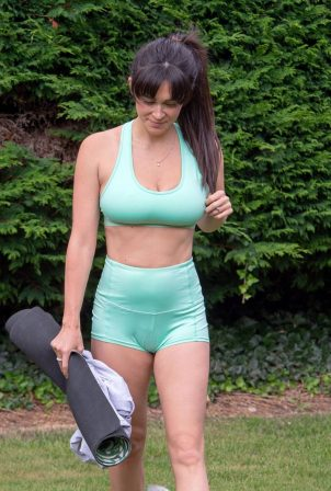 Casey Batchelor - In park doing Yoga Workout in North London