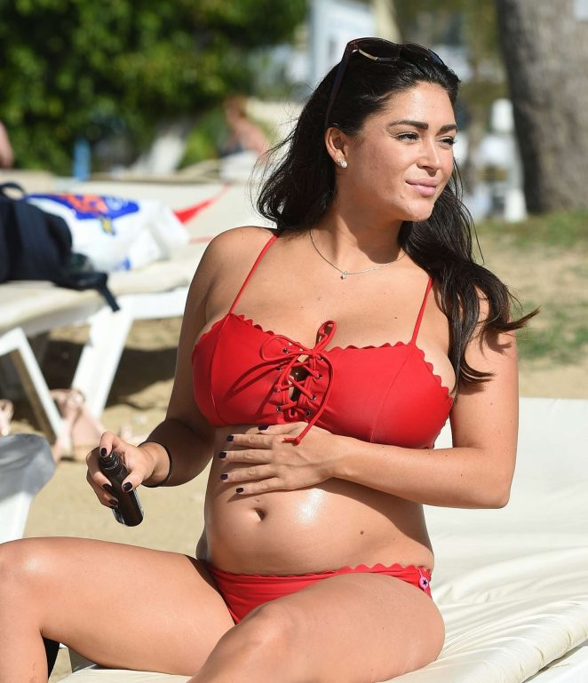 Casey Batchelor in Red Bikini in Lanzarote