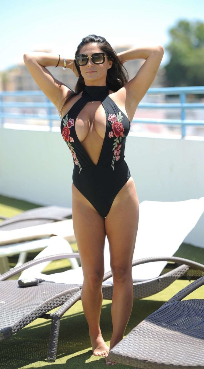 Casey Batchelor in Swimsuit in Cyprus
