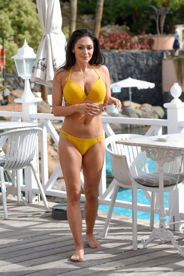 Casey Batchelor in Yellow Bikini on holiday in Italy
