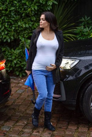 Casey Batchelor - Showing off her growing baby bump in Hertfordshire